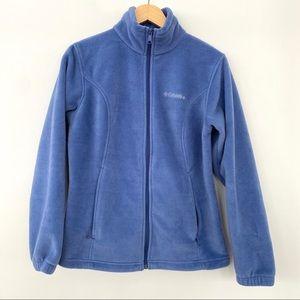 Columbia zip front fleece jacket